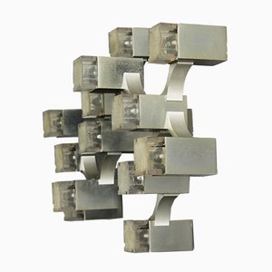 Cubic Wall Light by Gaetano Sciolari, 1970s