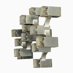 Luz de pared cúbica de Gaetano Sciolari, años 70