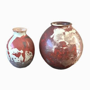 Dutch Ceramic Vases by Mobach, 1950s, Set of 2