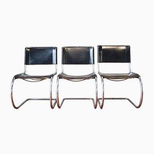 Poltrone MR10 vintage di Mies van der Rohe per Thonet, set di 3