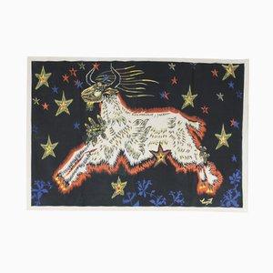 Serigrafía de algodón de Jean Lurcat para Corot France, años 50