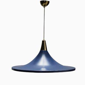 Lámpara colgante en azul de Stilnovo, años 50