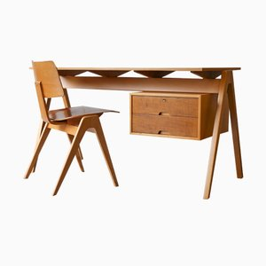 Hillestak Desk and Chair Set by Robin Day for Hille, 1950s