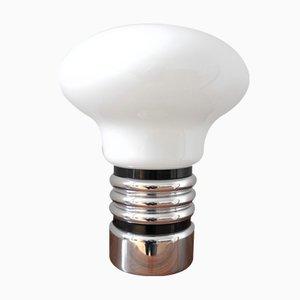 Lámpara de mesa en forma de bombilla, años 70