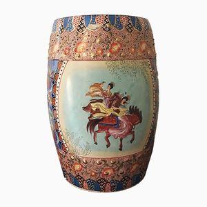 Polychromer Chinesischer Mid-Century Keramik Beistelltisch
