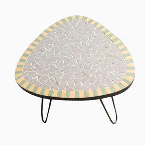 Tavolo piccolo vintage con mosaico, anni '50