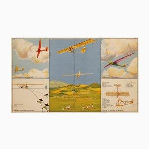 Affiche Litographique Deltaplane Vintage par Umberto di Lazzaro pour Imp. I.G.A.P., Roma
