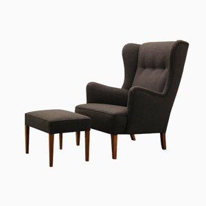 Dänischer Vintage Sessel & Ottomane