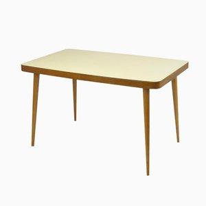 Esstisch aus Holz mit Gelber Tischplatte, 1950er
