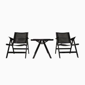 Tavolino da caffè e sedie Rex vintage di Niko Kralj per Stol Kamnik