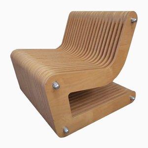 Vintage Schichtholz Sessel, 1980er