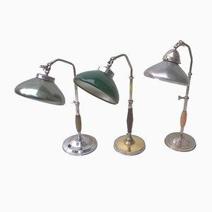Lámparas de escritorio italianas, años 30. Juego de 3