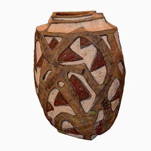 Jarrón francés de cerámica de Michele Fischer, 1991