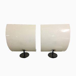 Lámparas de pared vintage de plexiglás de Luci. Juego de 2