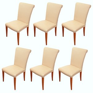 Vintage Vittoria Yellow Leather Chairs from Poltrona Frau, Set of 6