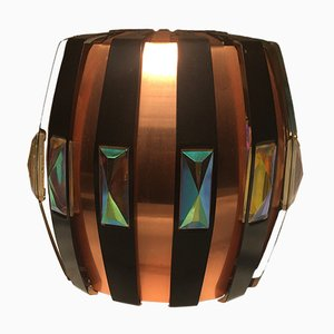 Danish Iridescent Pendant Light, 1960s