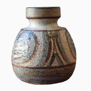 Jarrón vintage pequeño de cerámica de Noomi Backhausen para Soholm Stentoj, Denmark, 1971