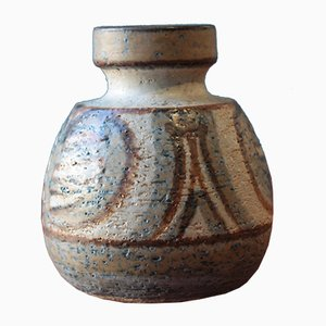 Small Vintage Ceramic Vase by Noomi Backhausen for Soholm Stentoj, Denmark, 1971
