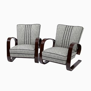 Czech Armchairs, 1930s, Set of 2