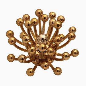 Goldene Italienische Pistillino Wandlampe von Studio Tetrarch für Valenti Luce, 1970er