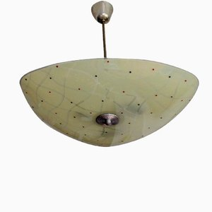 Mid-Century Czech Glass Ceiling Lamp