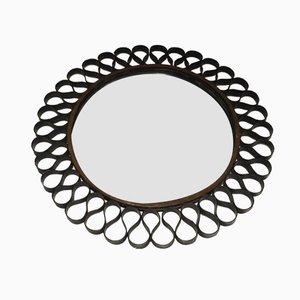 Miroir Mid-Century Laqué Noir et Doré