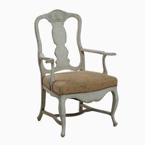 Antique Scandinavian Rococo Style Armchair