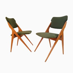 Vintage French Rockabilly Chairs, 1950s, Set of 2