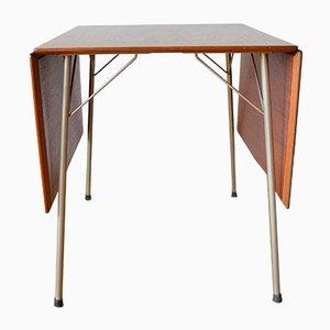 Tavolo da pranzo pieghevole modello 3601 in teak di Arne Jacobsen per Fritz Hansen, Danimarca, anni '50