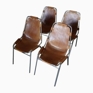 Les Arcs Chairs by Charlotte Perriand for Cassina, 1960s, Set of 4