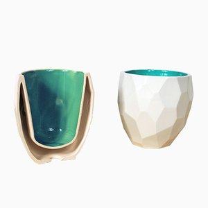 Vasos poligonales Thermo de Sander Lorier. Juego de 3