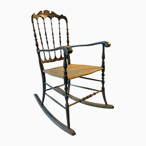 Vintage Chiavarina Rocking Chair by Osvaldo Sanguinetti from Fratelli Sanguinetti
