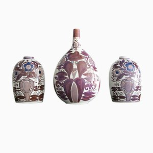 Vasi in ceramica di Kari Christensen per Royal Copenhagen, anni '60, set di 3