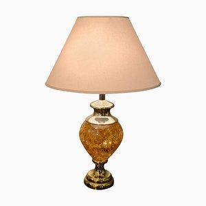 Große Bernsteinharz Lampe, 1970er