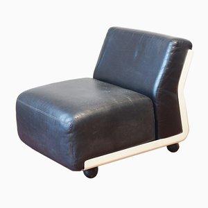 Sezione di divano Amanta di pelle di Mario Bellini di B&B Italia, 1966