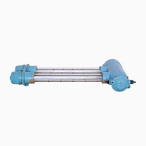 Petite Lampe Industrielle Bleu Fluorescent de EOW, 1970s