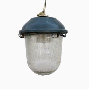 Kleine Ukrainische Vintage Bunker Lampe
