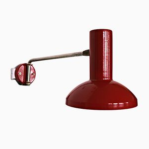 Vintage Industrial Red Workshop Lamp