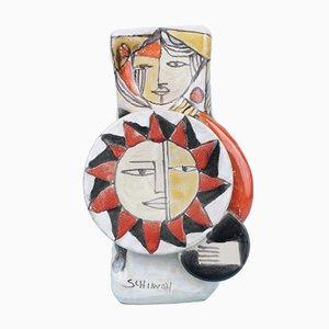 Jarrón figurativo de Elio Schiavon, años 60
