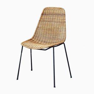 Italienischer Korbgeflecht Stuhl von Carlo Graffi & Franco Campo für Home, 1956