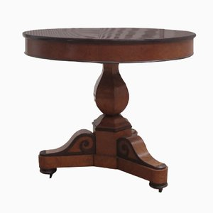 Antique Mahogany Biedermeier / Charles X Style Occasional Table on Castors