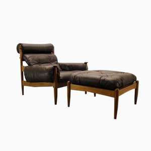 Mid-Century Easy Chair & Ottoman by Eric Merthen