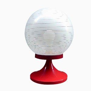 Lámpara de mesa española roja, años 70