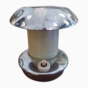 Lámpara de mesita de noche vintage pequeña de latón