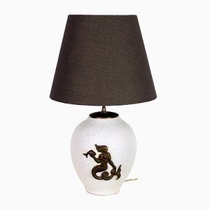 Lampada da tavolo in ceramica di Pol Chambost