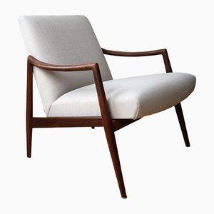 Easy Chair en Teck par Hartmut Lohmeyer pour Wilkhahn, 1956