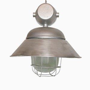 Lámpara industrial IP-55 vintage de Polam Wilkasy