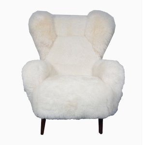 Danish Lambswool Wing Chair