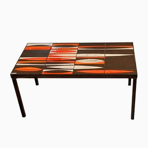 Table Basse Navette par Roger Capron, France, 1950s
