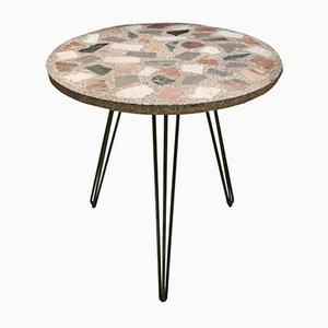 Vintage Terrazzo Marmor Gartentisch, 1950er